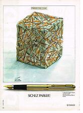 PUBLICITE ADVERTISING 034   1979   PARKER  stylos par CESAR