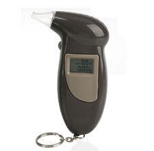 Digital LCD Alcohol Breath Analyzer Breathalyzer Tester Keychain Audible Alert