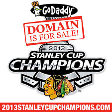 2013 STANLEY CUP CHAMPIONS .COM - Blackhawks - Hockey - Domain Name - GoDaddy