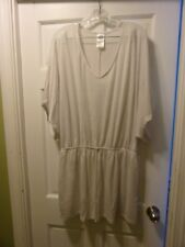 Catalina White Size XL 16/18 Bathing Suit Cover Dress Elastic Waist