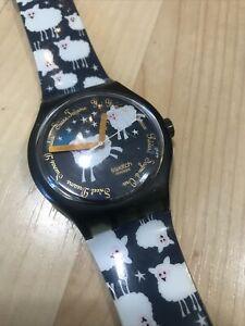 Vintage Swatch Watch - BLACK SHEEP - 1994