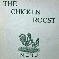 Vintage 1940s The chicken Roost Menu Main Street Vancouver WA Columbia Ice Coal
