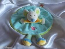 Doudou souris turquoise, Nicotoy, Blankie/Lovey/Newborn toy