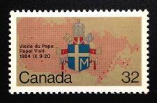 Canada #1030 MNH, Papal Visit Stamp 1984