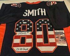 Rod Smith Signed Autographed Denver Broncos USA Custom Jersey JSA