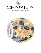 CHAMILIA 925 silver & Swarovski GP SKY TREASURE charm bead, stars celestial
