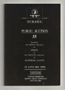 "CRETE, the ""Minos"" collection + AUSTRIAN LLOYD ""Neptune"" coll, auction catalogue"
