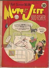 Mutt & Jeff Comic Book #15, DC Comics 1944 GOOD+/VERY GOOD-