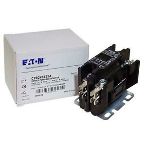 C25CNB125A Eaton / Cutler Hammer Contactor - 25 Amp / 1-1/2 Pole / 120V Coil