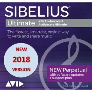 Sibelius Ultimate 2018 with Photoscore & Audioscore Ultimate (Download Card)