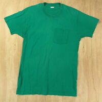 vtg usa made Fruit of the Loom selvedge pocket t shirt XL thin single stitch