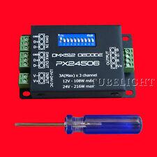 PX24506 DMX Decoder Driver RGB Amplifier Control Controller For LED Light 12-24V