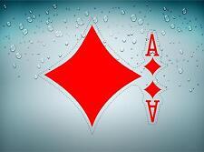 Autocollant sticker voiture jeton poker table casino jeux as de carreau carte B
