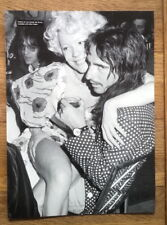 ALICE COOPER & PAMELA DES BARRES magazine PHOTO/Poster/clipping 11x8 inches