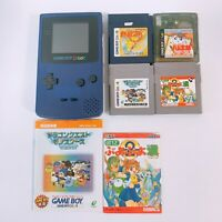 Nintendo Game Boy Color Console Purple GB CGB-001 Japan 6 Games