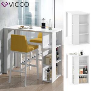 Table de bar VICCO NOEL, table de comptoir, blanc