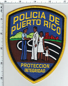 Policia de Puerto Rico Proteccion Integridad Shoulder Patch from the 1980's