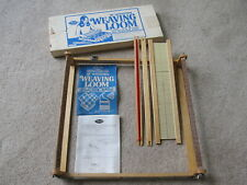 """Vintage Avalon 18"""" Wooden Weaving Loom with Box & Instructions - No. 8181 -Craft"""
