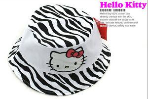Brand New Hello Kitty White Kids Children Girl Good Quality 100% Cotton Sun Hat