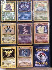 Lotto carte pokemon set base holo