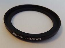 Step Up Adattatore del filtro metallo vhbw 43mm - 49mm per Olympus, Panasonic