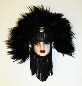 Unique Creations Small Art Deco Lady Face Mask Wall Hanging Decor - NEW IN BOX
