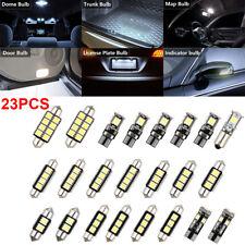 23x LED White Car Inside Light Kit Dome Trunk Mirror License Plate Lamp Bulbs