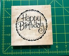 Stampendous Pail Topper Rubber Stamp Happy Birthday W046