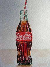 Painting Coca Cola Glass Bottle Drink ACEO Art