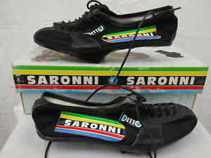 Detto Pietro Saronni Cycling Shoes 37/6.5 Vintage Racing Pavarin Italy Charity!
