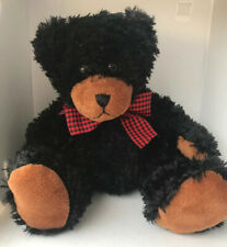 First & Main Black Teddy Bear Stuffed Animal Plush