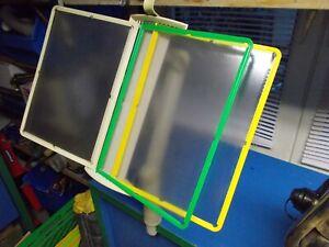 2 STÜCK NOVUS VIEWMASTER Sichttafelsystem, Klemmtischständer mit 12 Sichttafeln