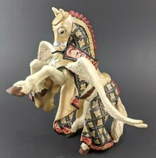 Papo 2007 Pegasus Knight Horse Rearing World of conquest and battle Hand painted
