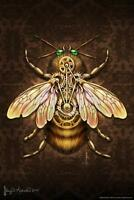 Steampunk Bee by Brigid Ashwood Art Print Mural Poster 36x54 inch