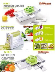 Spiralizer Vegetable & Fruit grater Julienne Shred Twister Slicer Cutter Peeler