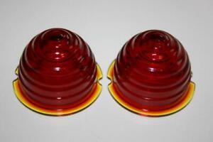 PORSCHE 356 SET REAR RED GLASS  LENSES  NEW