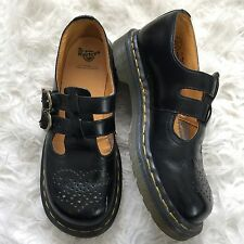 DOC Dr. Martens Women's 8065 MARY JANE US 6 Black Double Strap Square Toe Grunge
