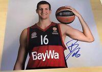 Paul Zipser Chicago Bulls Fc Bayern Basketball Autographed 8x10 Photo W/COA