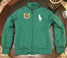 Ralph Lauren St Moritz Polo Hooded Equestrian Big Pony Jacket Size Small Green