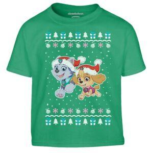 Paw Patrol Skye Everest Weihnachtsshirt Geschenk Kinder Jungen T-Shirt Geschenk