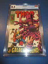 Thor #168 Silver age Origin of Galactus Hot Kirby Key CGC 8.5 VF+ Beauty Wow
