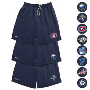 NHL Reebok Center Ice TNT PlayDry Performance Navy Team Shorts Collection Men's