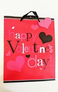 Valentine's Gift Bag 10x13 Inch Happy Valentine's Day