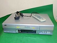 JVC HR-S5967 Video Cassette Recorder SUPER VHS ET SVHS VCR Silver Slim+Remote