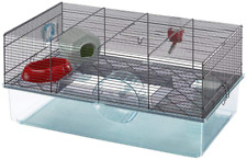Favola Hamster Cage 23.6L x 14.4W x 11.8H-inches w/ Exercise Wheel, Bottle, Dish