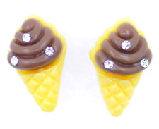 Lovely chocolate ice cream stud earrings
