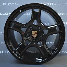 "GENUINE PORSCHE 911 997 CARRERA 4/4S 19"" INCH BLACK LOBSTER CLAW ALLOY WHEELS X4"