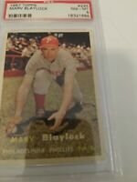 1957 Topps #224 Marv Blaylock Phillies PSA 8 - NM/MT look