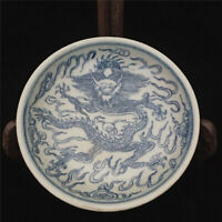 China old Hand-painted blue-and-white pottery porcelain Chinese food plates