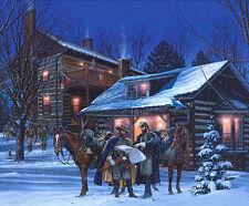 """Headquarters at Narrow Passage"" by John Paul Strain Civil War L/E signed Print"